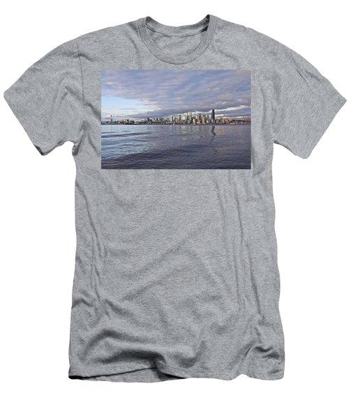 Seattle Skyline Cityscape Men's T-Shirt (Athletic Fit)