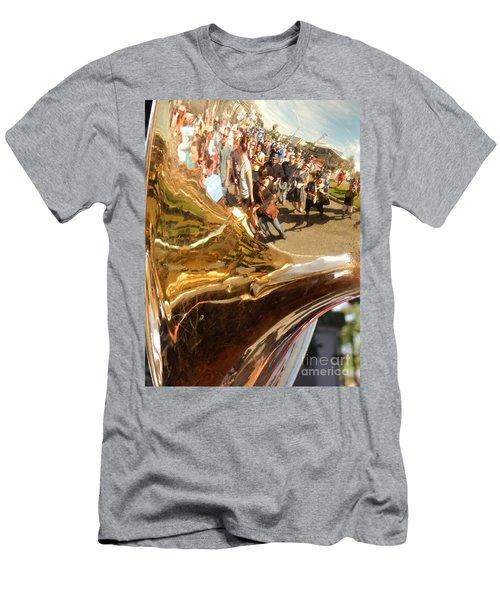 Second Line Tuba Men's T-Shirt (Athletic Fit)