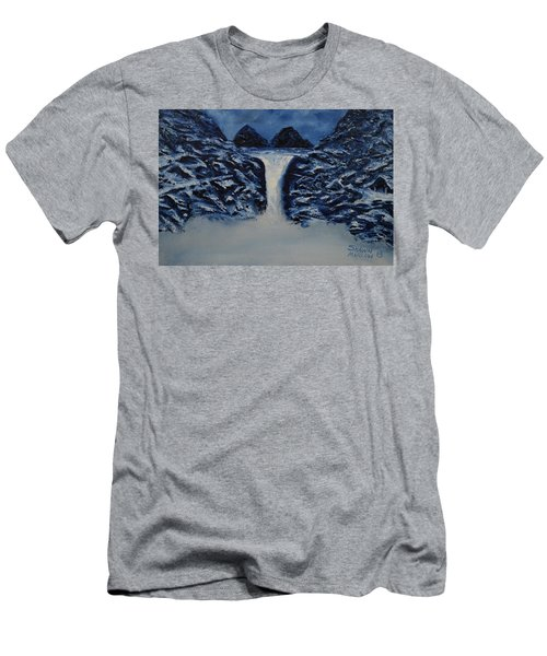 Men's T-Shirt (Slim Fit) featuring the painting Secret Places by Shawn Marlow