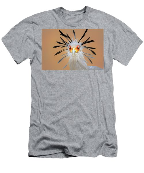 Secretary Bird Portrait Close-up Head Shot Men's T-Shirt (Athletic Fit)