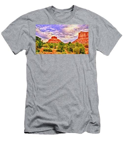Sedona Arizona Bell Rock Vortex Men's T-Shirt (Athletic Fit)