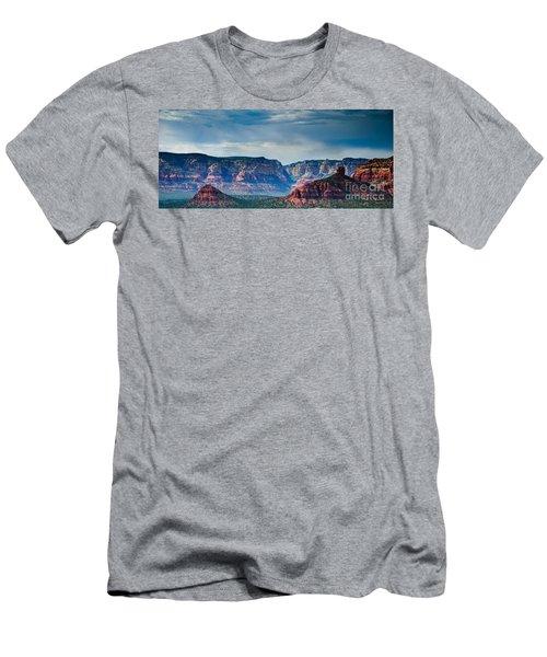 Sedona Arizona Panorama Men's T-Shirt (Slim Fit) by Terry Garvin