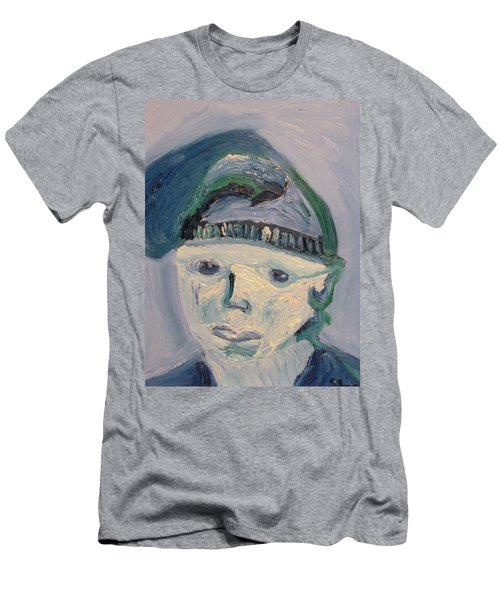 Self Portrait In Blue And Green Men's T-Shirt (Athletic Fit)