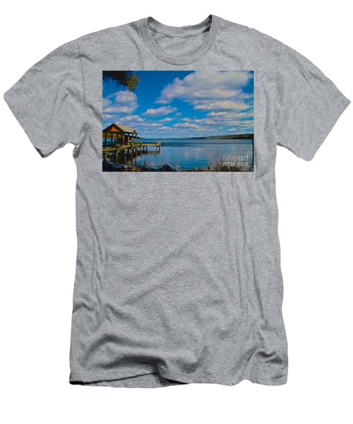 Seneca Lake At Glenora Point Men's T-Shirt (Athletic Fit)