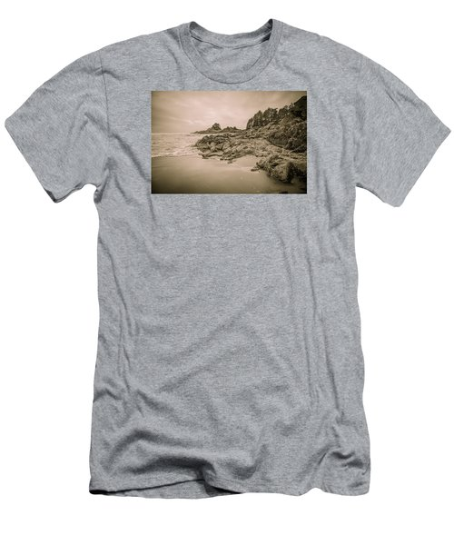 Cox Bay Sepia Men's T-Shirt (Slim Fit) by Roxy Hurtubise