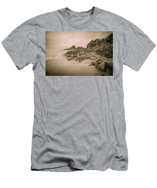 Cox Bay Sepia Men's T-Shirt (Athletic Fit)