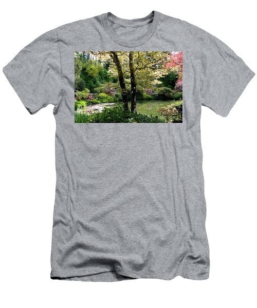 Serene Garden Retreat Men's T-Shirt (Athletic Fit)
