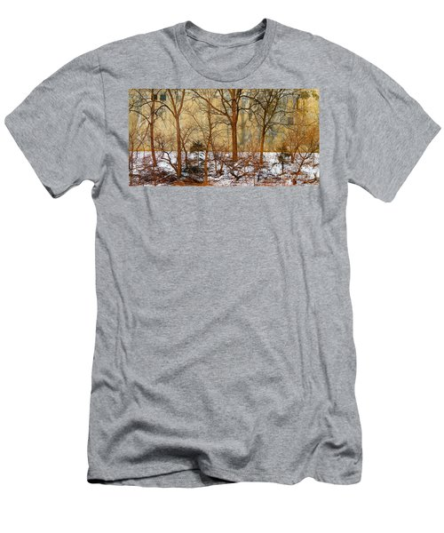 Men's T-Shirt (Slim Fit) featuring the photograph Shadows In The Urban Jungle by Nina Silver