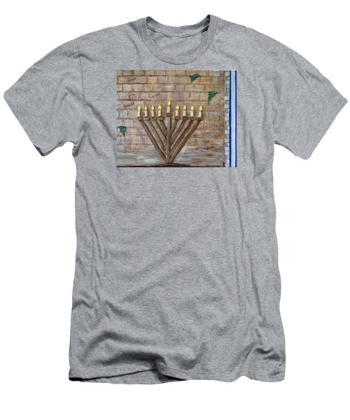 Chanukah Of Peace Men's T-Shirt (Athletic Fit)