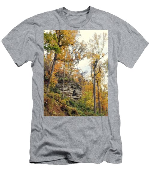 Men's T-Shirt (Slim Fit) featuring the photograph Shawee Bluff In Fall by Marty Koch