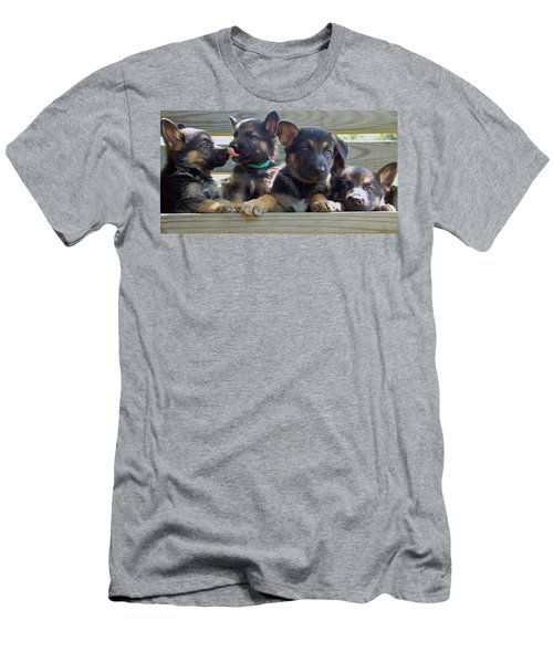 Shepherd Pups 5 Men's T-Shirt (Athletic Fit)