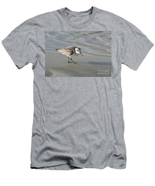 Shore Bird On Ocean Beach Men's T-Shirt (Athletic Fit)