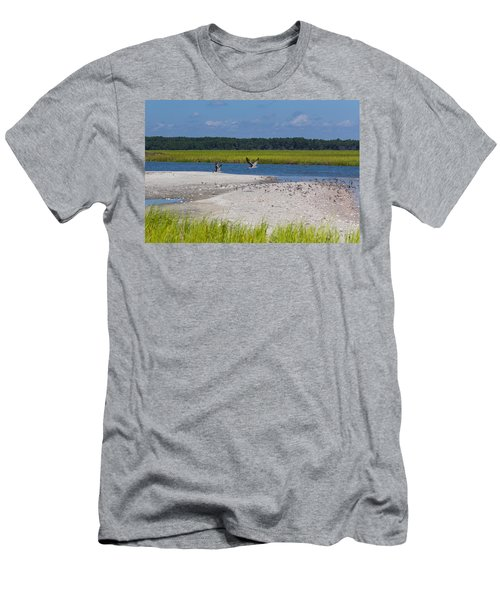Shorebirds And Marsh Grass Men's T-Shirt (Athletic Fit)