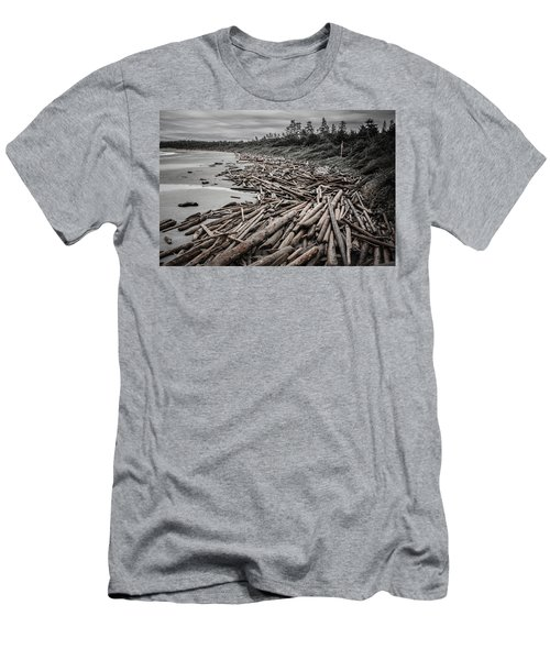 Shoved Ashore Driftwood  Men's T-Shirt (Slim Fit) by Roxy Hurtubise