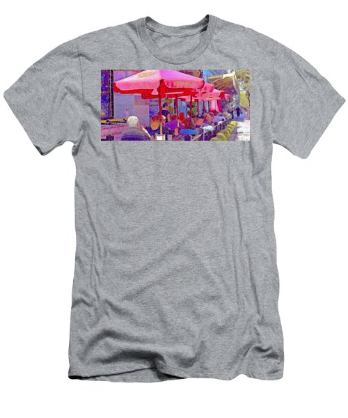 Sidewalk Cafe Digital Painting Men's T-Shirt (Athletic Fit)