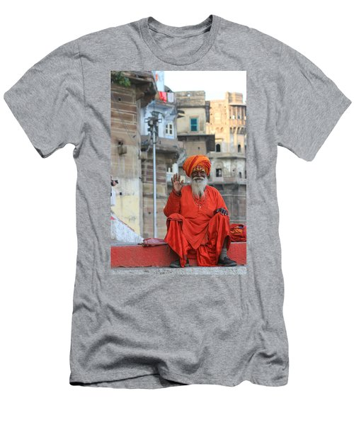 Indian Man Men's T-Shirt (Slim Fit) by Amanda Stadther