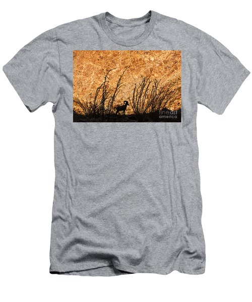 Men's T-Shirt (Athletic Fit) featuring the photograph Silhouette Bighorn Sheep by John Wadleigh