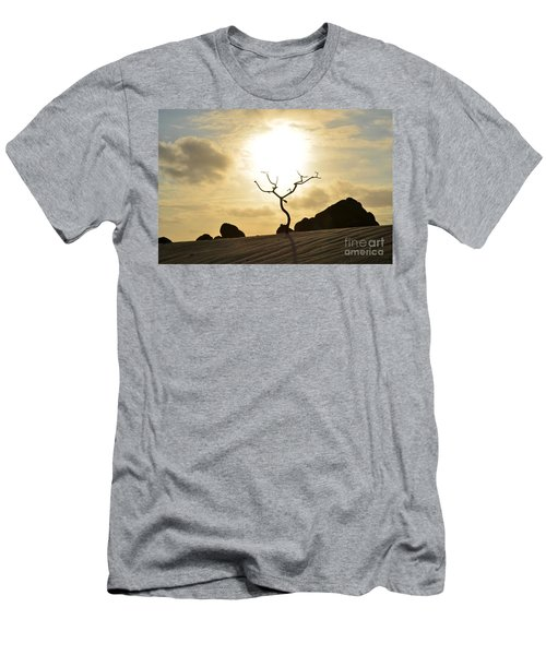 Silhouetted Tree At Dawn In Aruba Men's T-Shirt (Athletic Fit)