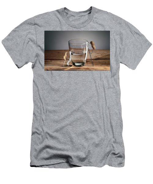 Simple Things - Half Empty Or Half Full Men's T-Shirt (Athletic Fit)