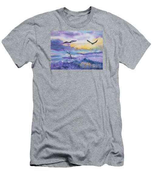 Men's T-Shirt (Slim Fit) featuring the painting Sister Ravens by Ellen Levinson