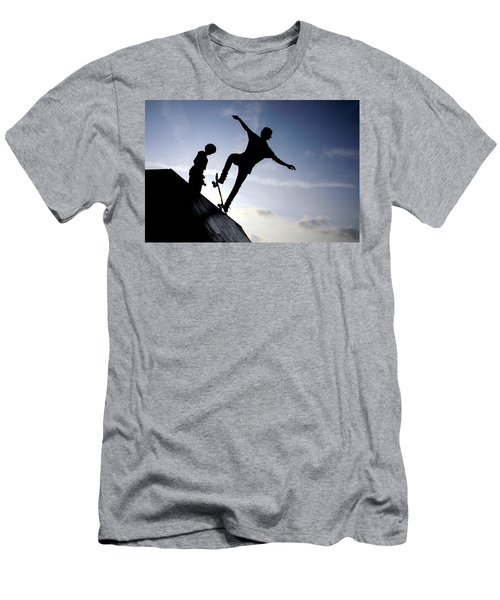 Skateboarders Men's T-Shirt (Athletic Fit)