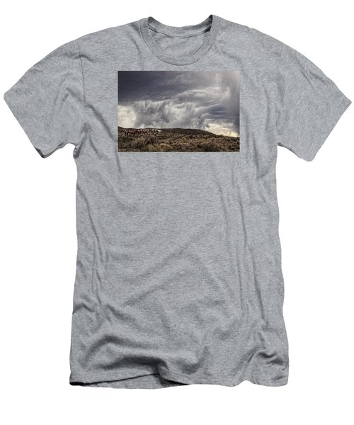 Skirting The Storm Men's T-Shirt (Slim Fit) by Joan Davis