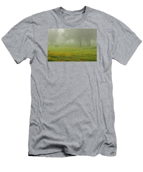 Skc 0835 Romance In The Meadows Men's T-Shirt (Slim Fit) by Sunil Kapadia