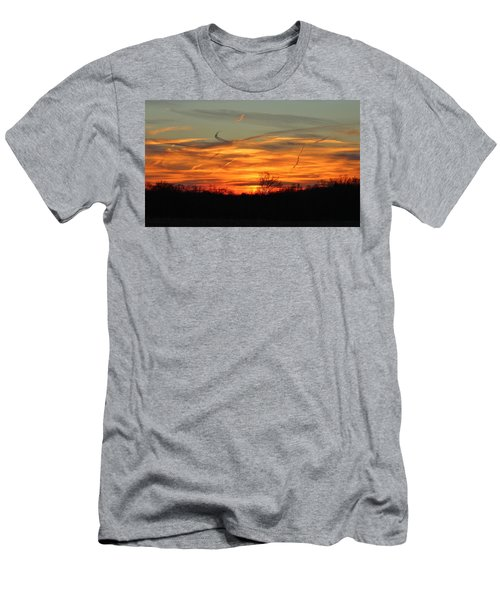 Sky At Sunset Men's T-Shirt (Slim Fit) by Cynthia Guinn