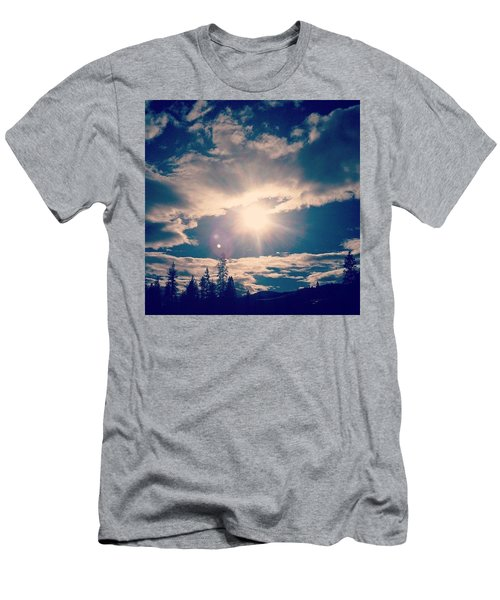 #sky #clouds #nature #trees #california Men's T-Shirt (Athletic Fit)