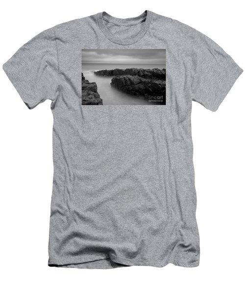 Sky Line Men's T-Shirt (Slim Fit) by Gunnar Orn Arnason