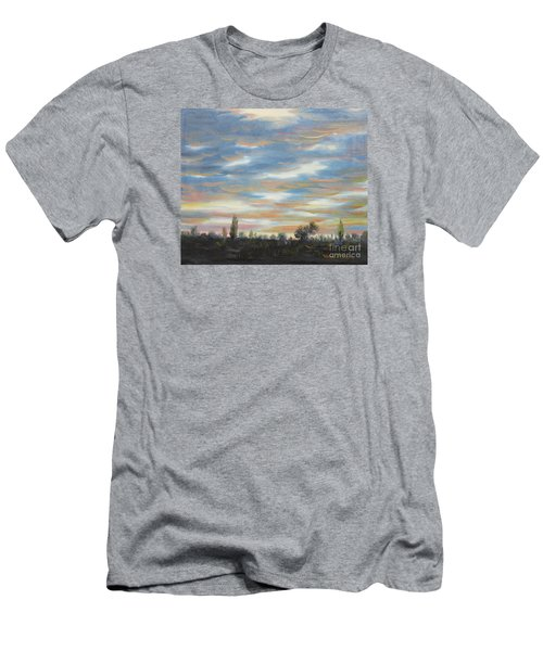 Men's T-Shirt (Slim Fit) featuring the painting Sky by Vesna Martinjak