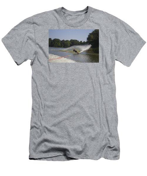 Slalom Waterskiing Men's T-Shirt (Slim Fit) by Venetia Featherstone-Witty