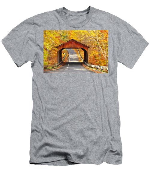 Sleeping Bear National Lakeshore Covered Bridge Men's T-Shirt (Athletic Fit)