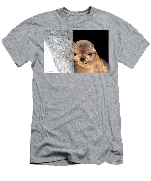 Sleepy Baby Sea Lion Men's T-Shirt (Slim Fit) by Susan Wiedmann