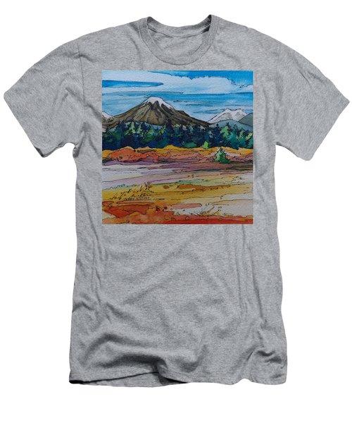 Small Sunriver Scene Men's T-Shirt (Athletic Fit)