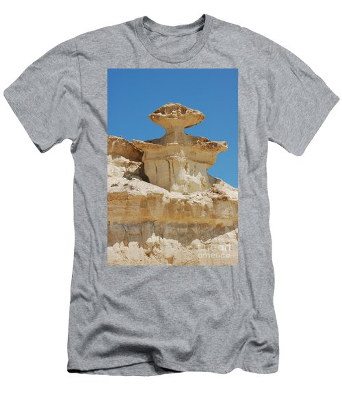 Smiling Stone Man Men's T-Shirt (Slim Fit) by Linda Prewer