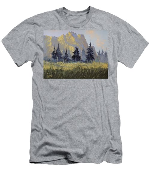 Smith Rock Oregon Men's T-Shirt (Slim Fit) by Richard Faulkner