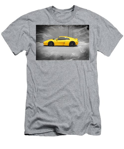 Men's T-Shirt (Slim Fit) featuring the photograph Smokin' Hot Ferrari by Kathy Churchman