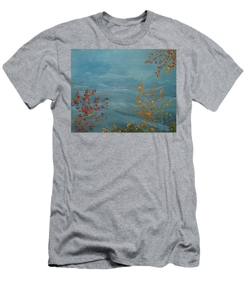 Smoky Mountains In Autumn Men's T-Shirt (Slim Fit) by Judith Rhue