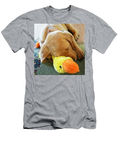 Snoozing With My Duck Fell Asleep On A Job Puppy Men's T-Shirt (Athletic Fit)