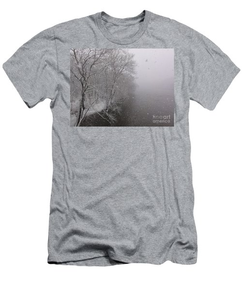 Snow At Bulls Island - 12 Men's T-Shirt (Athletic Fit)