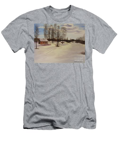 Snow In Solbrinken Men's T-Shirt (Slim Fit) by Martin Howard