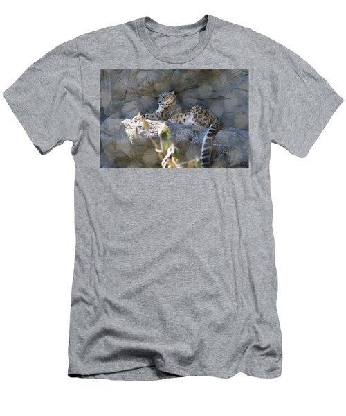 Snow Leopard    No.2 Men's T-Shirt (Athletic Fit)