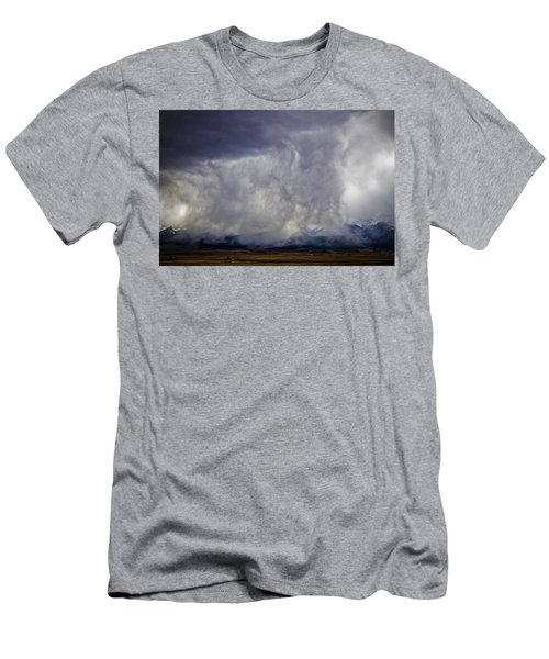 Snow On The Rockies Men's T-Shirt (Slim Fit) by Greg Reed