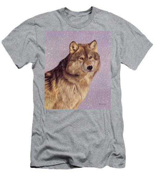 Snow Wolf Men's T-Shirt (Athletic Fit)