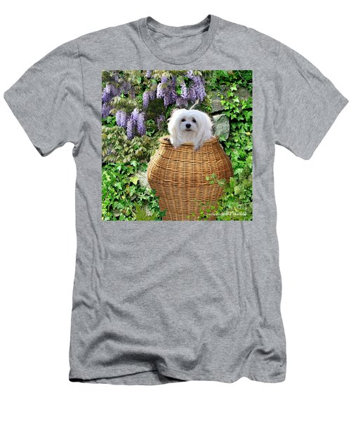 Snowdrop In A Basket Men's T-Shirt (Athletic Fit)