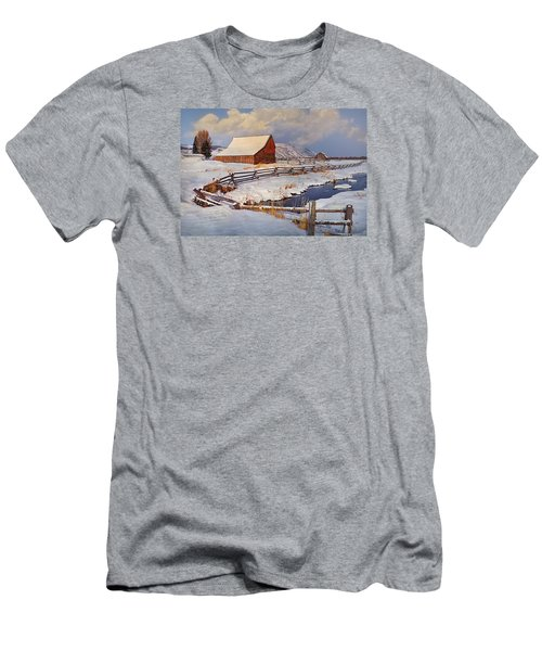 Men's T-Shirt (Slim Fit) featuring the photograph Snowed In by Priscilla Burgers