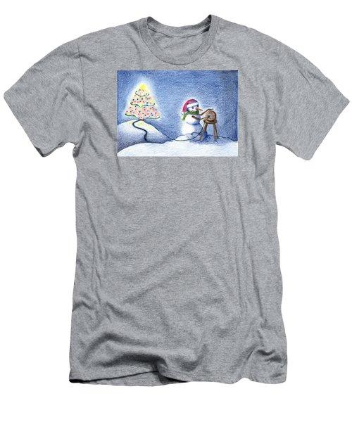 Snowman's X'mas Men's T-Shirt (Athletic Fit)