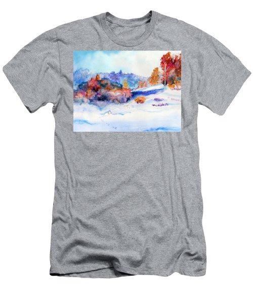 Snowshoe Day Men's T-Shirt (Slim Fit) by C Sitton