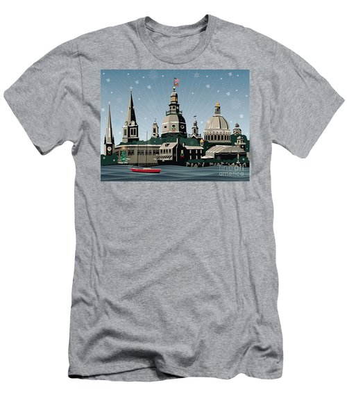 Snowy Annapolis Holiday Men's T-Shirt (Athletic Fit)
